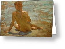 Sketch Of Nude Youth Study For Morning Spelendour Greeting Card