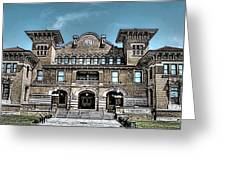 Sketch Of The Tt Wentworth Museum Greeting Card