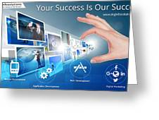 Skginfosolutions-web Design And Development Greeting Card
