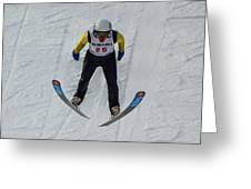 Ski Jumper 3 Greeting Card