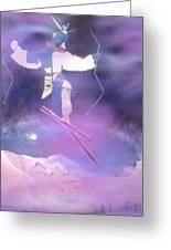 Ski Kachina Bowl Taos New Mexico Greeting Card