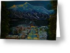 Ski Resort Greeting Card