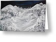Ski Slope Greeting Card
