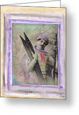 Skiboarder Around 1930 Greeting Card