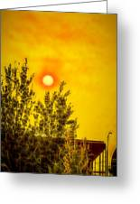 Skies Of Smoke And Fire Greeting Card