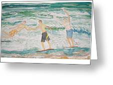 Skim Boarding Daytona Beach Greeting Card