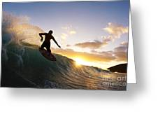 Skimboarding At Sunset I Greeting Card