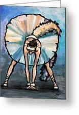 Skinny Ballerina. Greeting Card