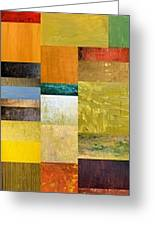 Skinny Color Study L Greeting Card by Michelle Calkins