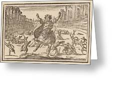 Skirmish In A Roman Circus Greeting Card