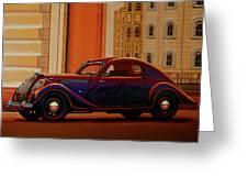 Skoda Popular Sport Monte Carlo 1935 Painting Greeting Card