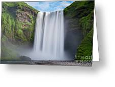 Skogafoss Iceland  Greeting Card