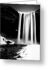 Skogafoss On A Cloudy Day Greeting Card