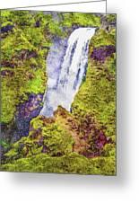 Skogafoss Waterfall #10 Greeting Card