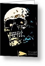 Skull Against A Dark Background Greeting Card
