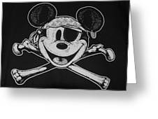 Skull And Bones Mickey  Greeting Card
