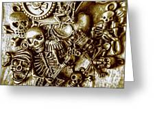 Skull And Cross Bone Treasure Greeting Card