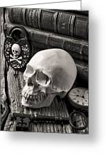 Skull And Skeleton Key Greeting Card