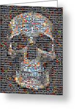 Skull Greeting Card by Boy Sees Hearts