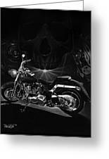 Skull Harley Greeting Card