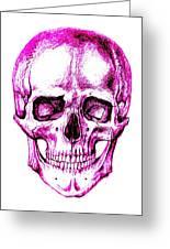Skull In Purple Greeting Card