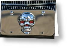 Skull License Plate Greeting Card