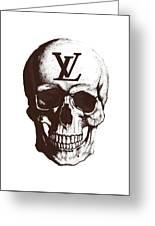 Skull Lv Braun Greeting Card