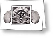 Skull Mandala Series Nr 1 Greeting Card by Deadcharming Art