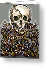 Skull N Thorns Greeting Card