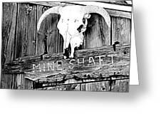 Skull On Wood Greeting Card