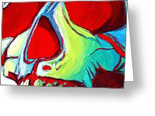 Skull Original Madart Painting Greeting Card