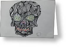Skull Greeting Card