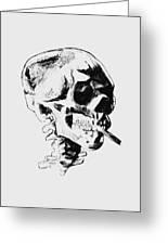 Skull Smoking A Cigarette Greeting Card