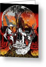 Skull Times Three Larger Size Greeting Card