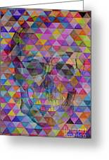 Skull Triangle Greeting Card