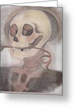 Skulls A Wimzy Greeting Card