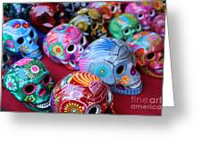 Skulls Day Of The Dead  Greeting Card