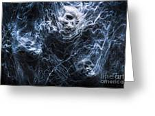 Skulls Tangled In Fear Greeting Card