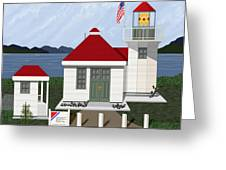 Skunk Bay Lighthouse Greeting Card