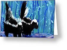 Skunks Greeting Card