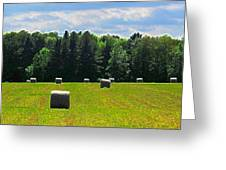 Sky Above The Hay Rolls Ae3 Greeting Card