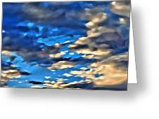 Sky And Clouds Greeting Card