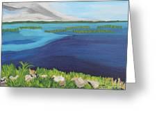 Serene Blue Lake Greeting Card