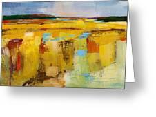 Sky And Marsh Greeting Card