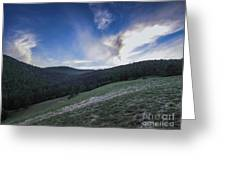 Sky And Mountains Greeting Card