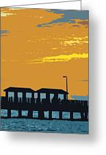Sky And Pier Greeting Card