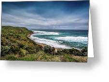 Sky Blue Coast Greeting Card