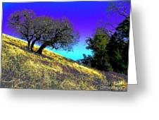 Sky Burning Blue Greeting Card