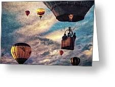 Sky Caravan Hot Air Balloons Greeting Card