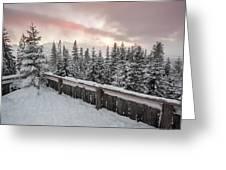 Sky Crack Over Tatra Mountains Greeting Card